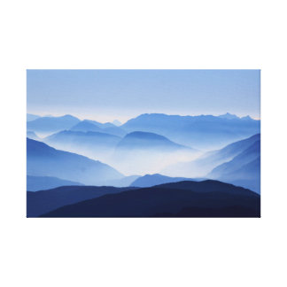 Gorgeous Colorful Misty Mountain Morning Canvas Print