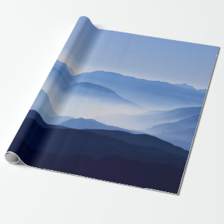 Gorgeous Colorful Misty Mountain Morning Wrapping Paper