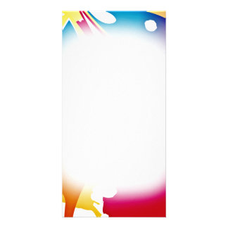 Gorgeous Colorful Modern art valentine gift Photo Card