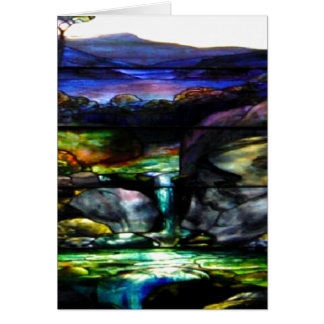 Gorgeous Colors Stain Glass Nature Card