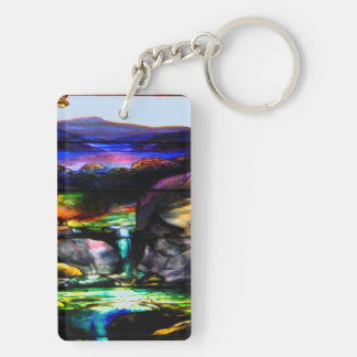 Gorgeous Colors Stain Glass Nature Keychain