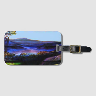 Gorgeous Colors Stain Glass Nature Luggage Tag