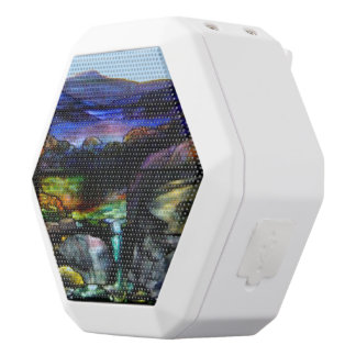 Gorgeous Colors Stain Glass Nature White Bluetooth Speaker