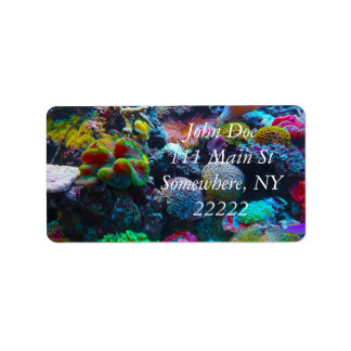 Gorgeous Coral Reef Label