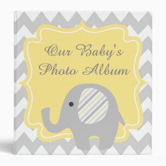 Gorgeous Custom Baby Shower Neutral Elephant Binders