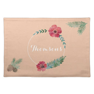 Gorgeous Custom Family Name Placemat