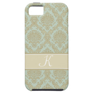 Gorgeous damask monogram design iPhone 5 cover