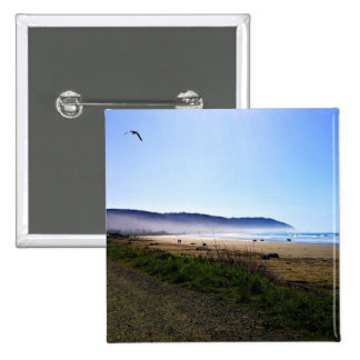 Gorgeous Day in Crescent City Beach, California 2 Inch Square Button