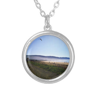 Gorgeous Day in Crescent City Beach, California Silver Plated Necklace