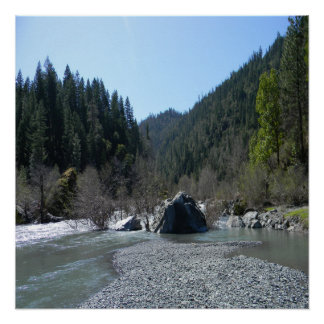 Gorgeous day in Trinity County, California... Poster