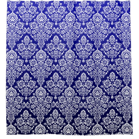 Gorgeous Deep Royal Blue Floral Damask Pattern
