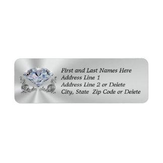Gorgeous Diamond Address Return Labels YOUR TEXT