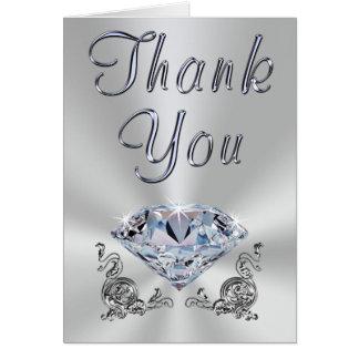 Gorgeous Diamond Anniversary Thank You Notes Cards
