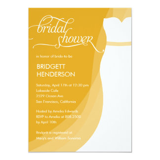 Gorgeous Dress Bridal Shower Invitation