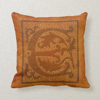 Gorgeous E Monogram/Old Letter Pillow! Throw Pillow
