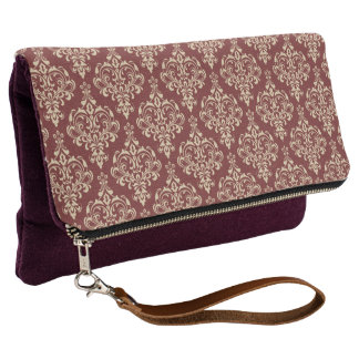 Gorgeous Elegant Damask Pattern Clutch