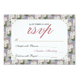 GORGEOUS ELEGANT WHITE AMARYLLIS FLOWER RSVP CARD