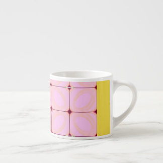 Gorgeous Expresso Cup in Pink and Yellow