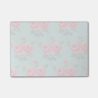 Gorgeous faded pink roses post-it notes