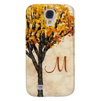 Gorgeous Fall Autumn Tree Monogram Initial