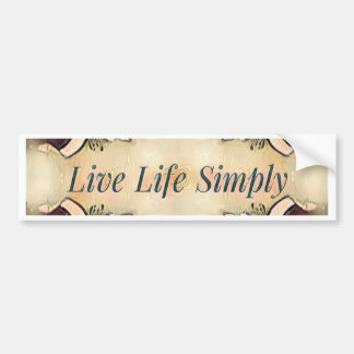 Gorgeous  Fall Yellow Simple Lifestyle Home Decor Bumper Sticker
