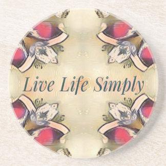 Gorgeous  Fall Yellow Simple Lifestyle Home Decor Coaster