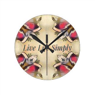Gorgeous  Fall Yellow Simple Lifestyle Home Decor Round Clock