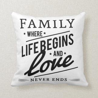Gorgeous family throw pillow