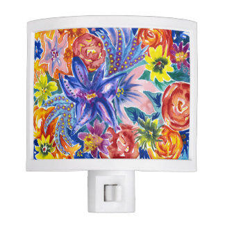 Gorgeous Floral Watercolour Night Light