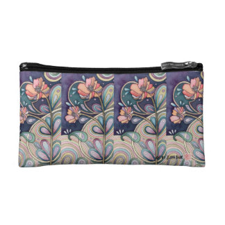 *Gorgeous Flowers Design Pouch Makeup Bags
