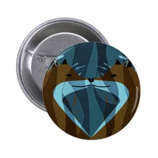 Gorgeous Foxes Kiss Design 2 Inch Round Button