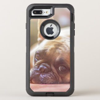 Gorgeous french bulldog lying down OtterBox defender iPhone 8 plus/7 plus case
