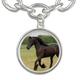 Gorgeous Friesian Horse Charm Bracelets
