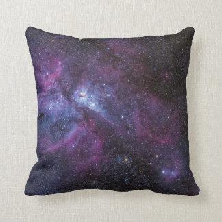 gorgeous galaxy print throw pillow