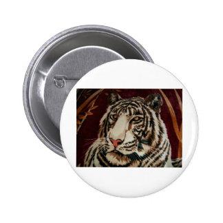 GORGEOUS GARDEN TIGER 2 INCH ROUND BUTTON