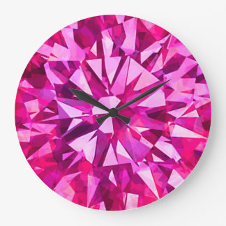 Gorgeous Gem Pinks Large Clock