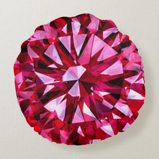 Gorgeous Gem Red Round Pillow