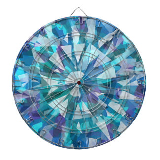 Gorgeous Gem with Blues and Purples Dartboard