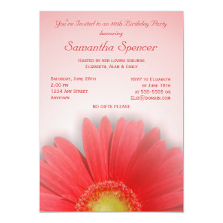 Gorgeous Gerbera Birthday Invitation