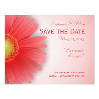 Gorgeous Gerbera Save The Date Card