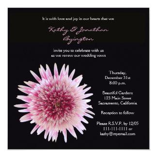 "Gorgeous Gerbera Vow Renewal 5.25"" Square Invitation Card"