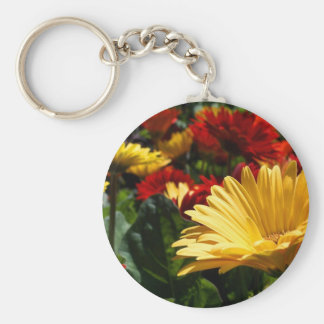 Gorgeous Gerbers Basic Round Button Keychain