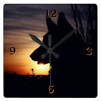 Gorgeous German Shepherd Silhouette Wall Clock