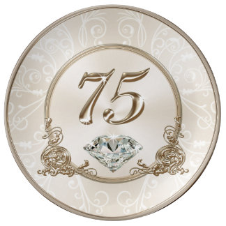 Gorgeous Gifts for 75 Year Old Woman, 75 Plate Porcelain Plates