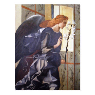 Gorgeous Giovanni Bellini Angel Annunciation Postcard