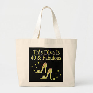GORGEOUS GOLD 40 AND FABULOUS DESIGN LARGE TOTE BAG