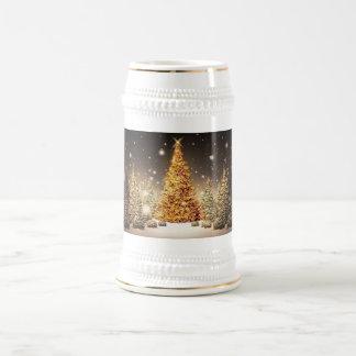Gorgeous Gold Christmas Tree Coffee Mugs