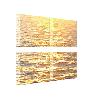 Gorgeous Golden Caribbean Waters At Sunrise Canvas Print