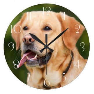 Gorgeous Golden Labrador Large Clock