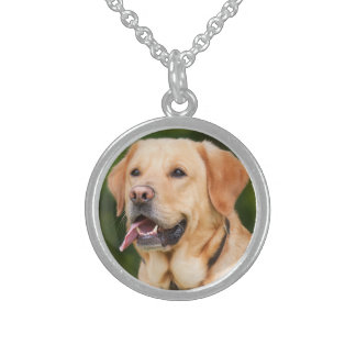 Gorgeous Golden Labrador Sterling Silver Necklace